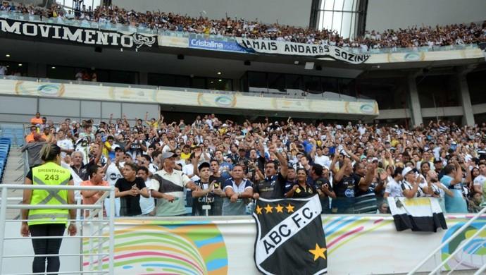 Torcida do ABC Arena das Dunas (Foto: Frankie Marcone/ABC)