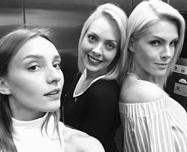 Isabel Hickmann com as irmãs: Fernanda e Ana (Foto: Reprodução/Instagram)