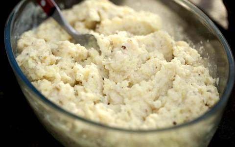 Purê de batata-doce com castanha-do-pará