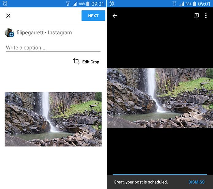 Later permite que você agende postagens na sua conta do Instagram (Foto: Reprodução/Filipe Garrett)