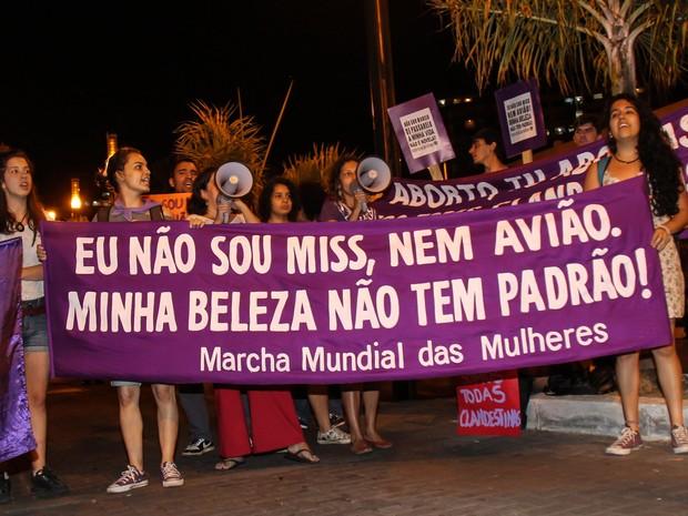 Protesto Marcha das Mulheres  (Foto: DUDU MACEDO/FUTURA PRESS/FUTURA PRESS/ESTADÃO CONTEÚDO)