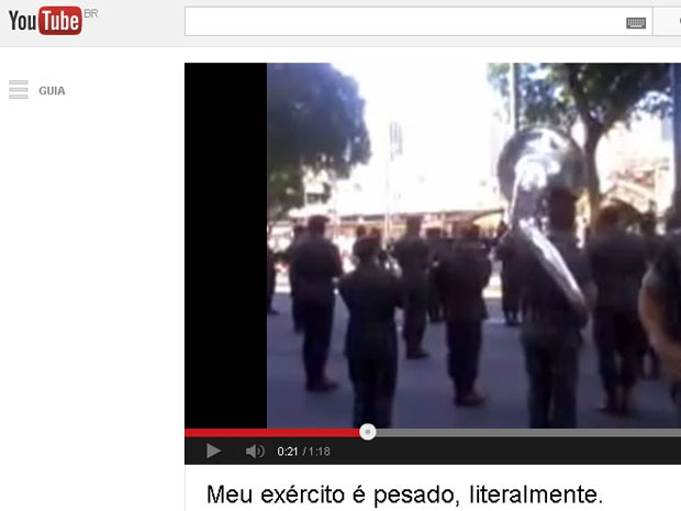d139a217439f5 G1 - Antes de desfile, banda do Exército toca  Show das Poderosas ...