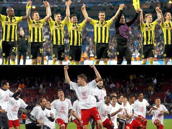 A taça da Liga dos Campeões será disputada por Borussia Dortmund e Bayern de Munique (Foto: Reuters/Reprodução: Globoesporte.com)