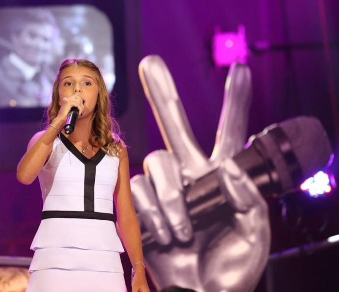 Giulia Nassa se apresenta na gravação do 'Altas Horas' (Foto: Carol Caminha/Gshow)