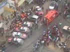 Casal é atropelado na calçada de igreja no Benedito Bentes, em Maceió