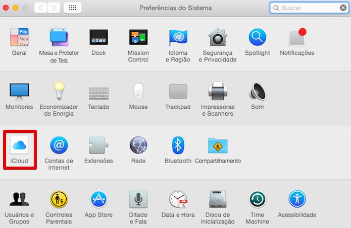 Abra as configurações do iCloud (Foto: Reprodução/Helito Bijora)