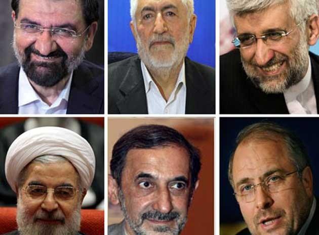 Candidatos Irã (Foto: AFP)