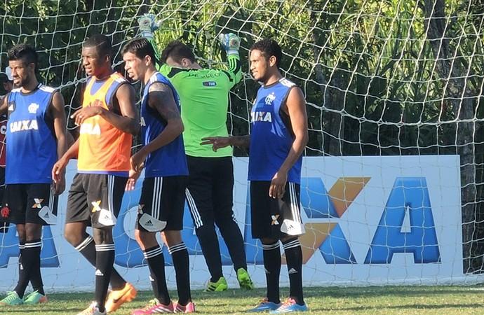 Hernane Treino Flamengo (Foto: Cahê Mota)