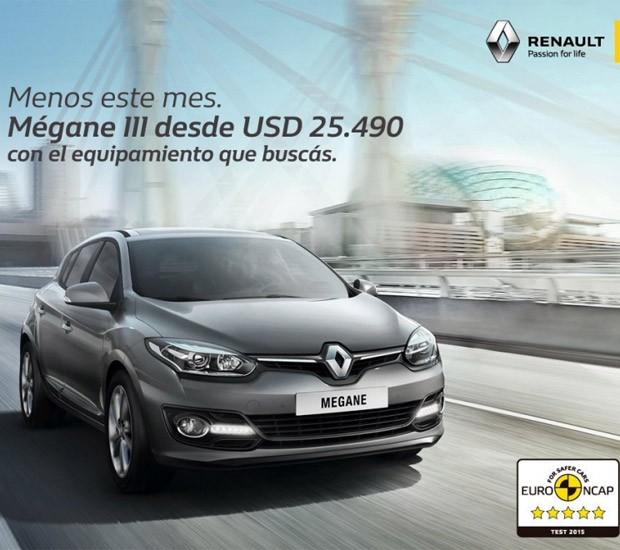 Propaganda do Renault Mégane usando notas do Euro NCap é criticada (Foto: Reprodução)