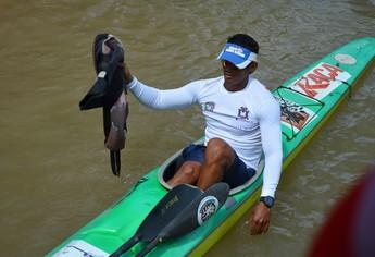 Francenildo Ribeiro, atleta de Santarém (Foto: Gustavo Campos/GloboEsporte.com)