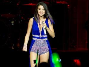 Selena Gomez começou o show pouco depois das 19h em São Paulo (Foto: Flavio Moraes/G1)
