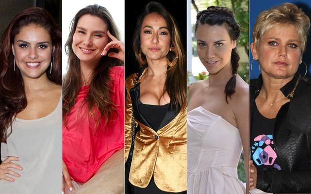 Paloma Bernardi, Lavínia Vlasak, Sabrina Sato, Camila Rodrigues e Xuxa (Foto: Reprodução)