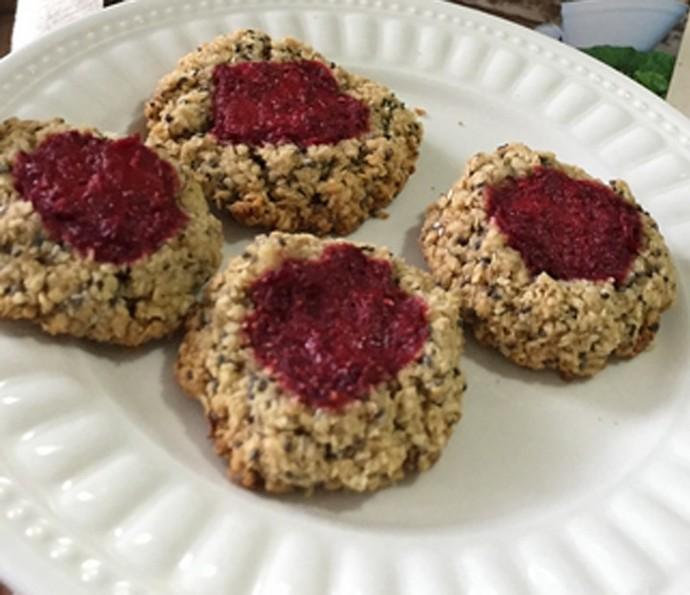 Cookie Integral com Geleia de Morango da Bela Gil  (Foto: Gshow )