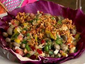 Salada de bacalhau e feijão verde  (Foto: Reprodução/TV Gazeta)