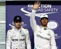Hamilton domina Rosberg e garante a pole para a grande final em Abu Dhabi
