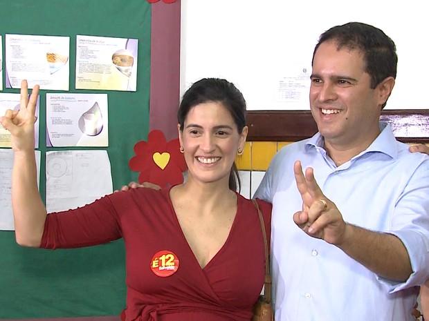 Edivaldo Holanda Junior (PDT) vota em São Luís (Foto: Reprodução / TV Mirante)