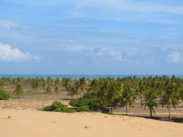 Praia é um refúgio para turistas que buscam tranquilidade (Foto: Flávio Antunes/G1)