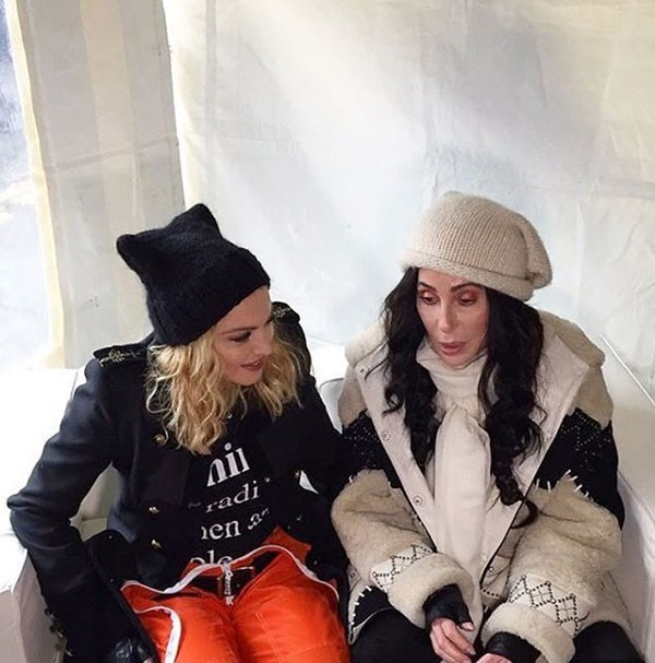 Madonna e Cher (Foto: Reprodução/Instagram)