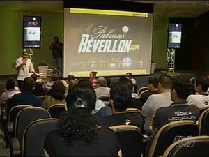 Lançamento oficial do Reveillon 2014 aconteceu na noite desta quinta-feira (7) em Palmas (Foto: Reprodução/TV Anhanguera)