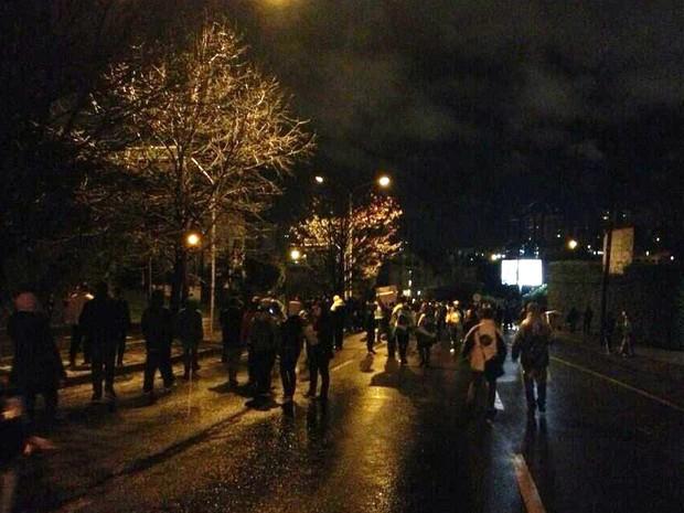 Grupo participa de manifestação em Caxias do Sul, RS (Foto: Guilherme Pulita/RS)