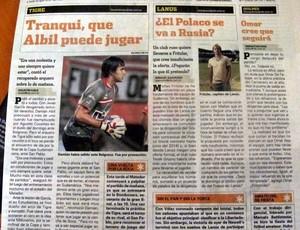 Jornais argentinos ignoram final da Copa Sul-Americana (Foto: Marcelo Prado/Globoesporte.com)