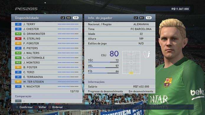 Ter Stegen é um dos goleiros mais promissores do jogo (Foto: Reprodução/Thiago Barros)