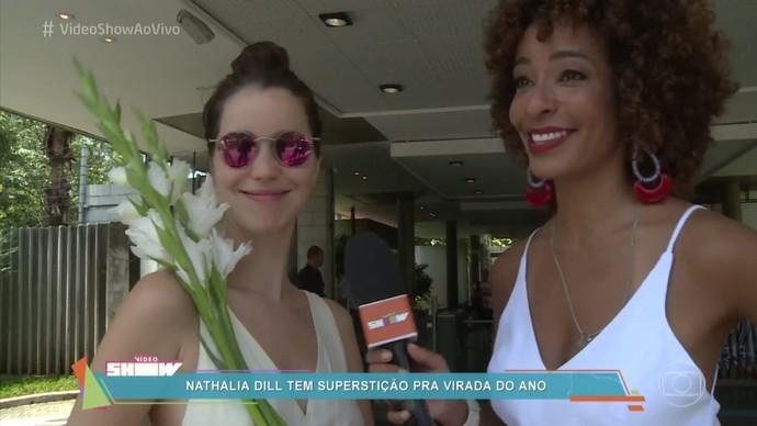 Nathalia Dill tem supertição para virada do ano (Foto: TV Globo)