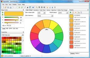 Aquarelle Cor Suite, paleta de cores