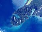 Astronauta fotografa mar azul no litoral da Nova Zelândia