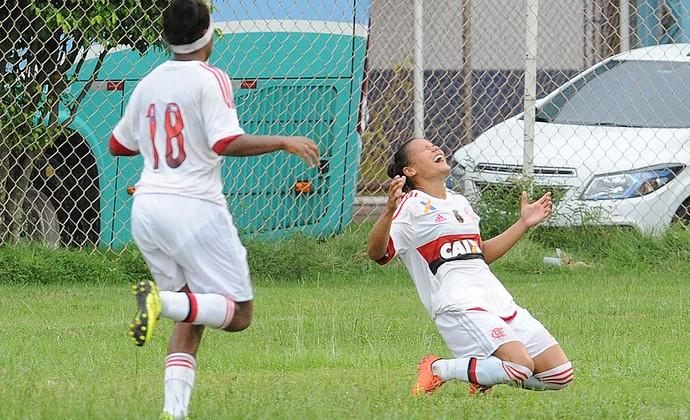 Flamengo e Duque de Caxias futebol feminino (Foto: Tasso Marcelo/ AllSports)