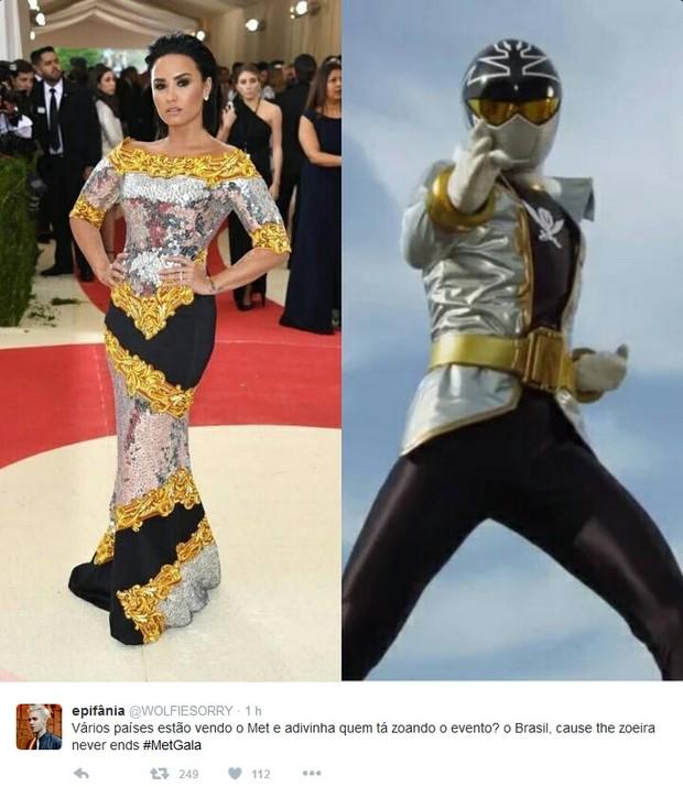 Demi Lovato comparada a personagem japonês (Foto: Reprodução/Twitter)