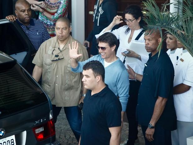 Tom Cruise vai ao Maracanã, onde gravará entrevista (Foto: Christian Rodrigues)