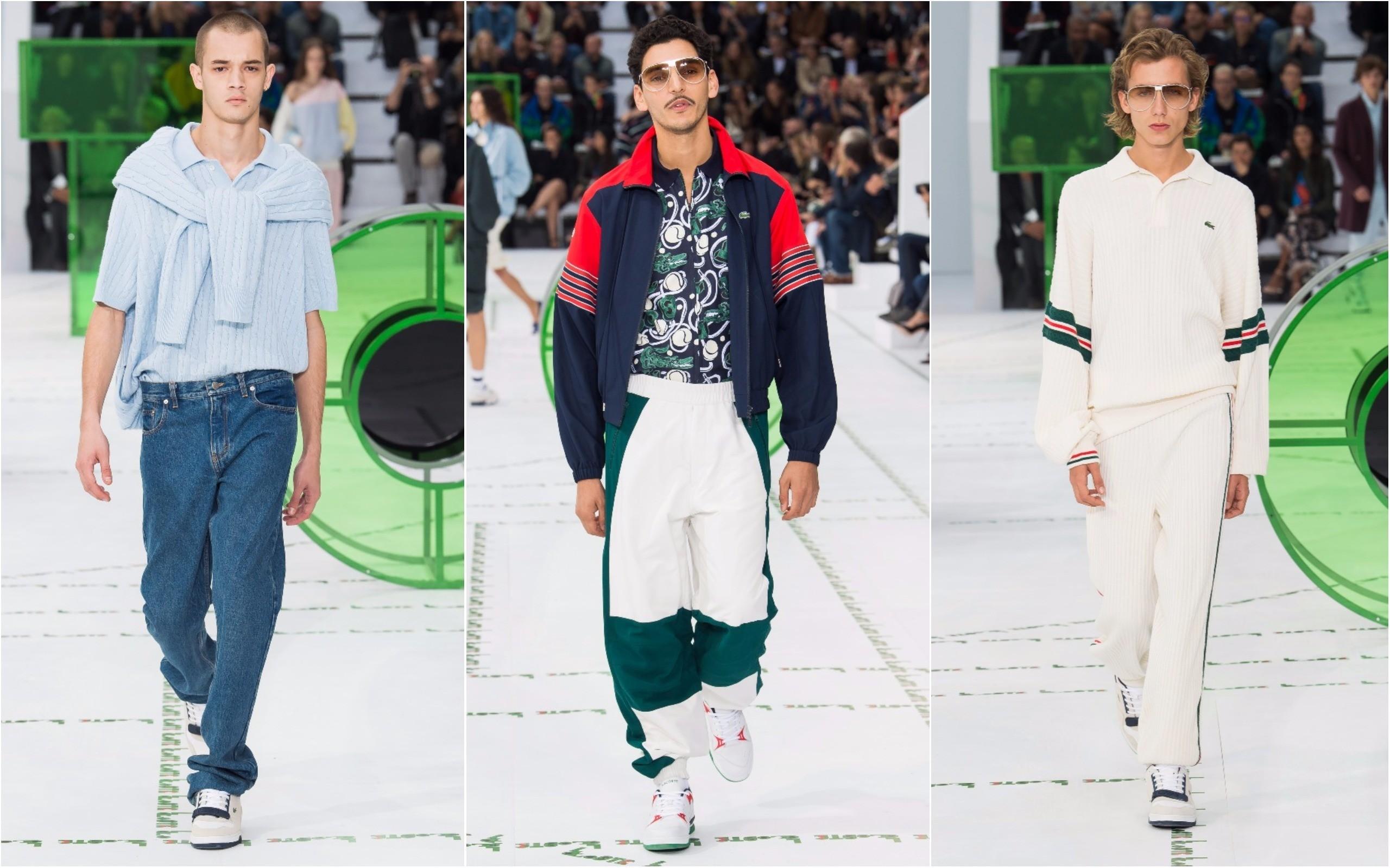 Alguns dos looks masculinos apresentados pela Lacoste em Paris (Foto: Divulgação)