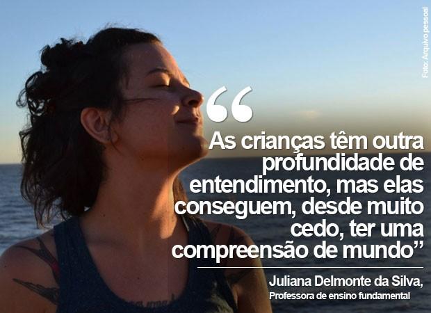 Juliana Delmonte da Silva, professora de ensino fundamental, criou uma roda de conversa só com alunas meninas (Foto: Arquivo pessoal/Juliana Delmonte da Silva)
