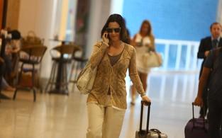 Guilhermina Guinle no aeroporto (Foto: Marcello Sá Barreto / AgNews)