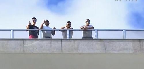 Jogadores do Botafogo; Bolívar, Julio Cesar, Edílson e Emerson Sheik (Foto: Reprodução SporTV)