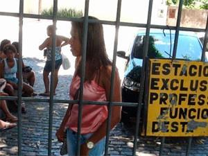 Letícia Santos, 22, chegou seis minutos atrasada para o Enem em Salvador (Foto: Ruan Melo/G1 BA)