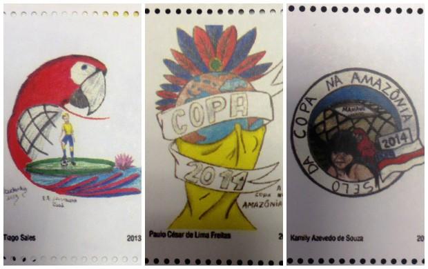 Selos da Copa do Mundo na Amazônia (Foto: Divulgação)