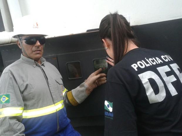 Operação foi realizada em conjunto entre a Copel e a Polícia Civil (Foto: Divulgação / Polícia Civil)