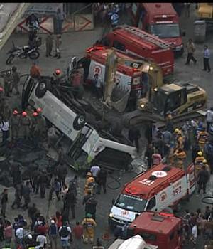 FOTOS: veja imagens do acidente (Reprodução / GloboCop)