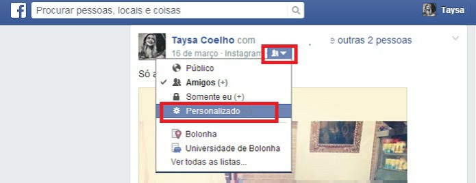 Descubra como impedir que amigos de amigos tageados vejam as suas fotos no Facebook (Foto: Reprodução/Taysa Coelho)