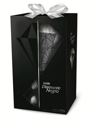 Diamante Negro em formato de diamante, inovação da Lacta na Páscoa de 2013. (Foto: Divulgação/Lacta)