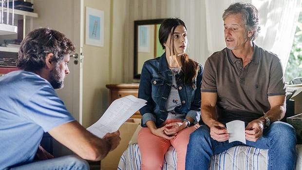 Sol Nascente:  Lancellotti e Novaes serão pai e filha (Artur Meninea / TV Globo)