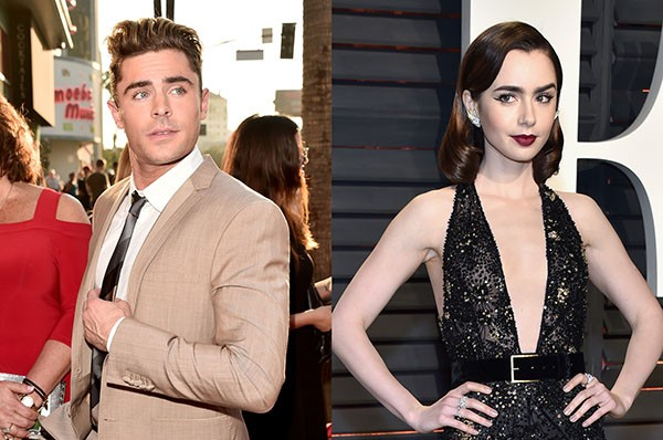 Zac Efron e Lily Collins (Foto: Getty Images)