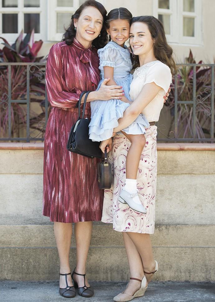 Débora Olivieri, Nathália Costa e Bianca Bin estão em 'Êta Mundo Bom!' (Foto: Caiuá Franco/Globo)