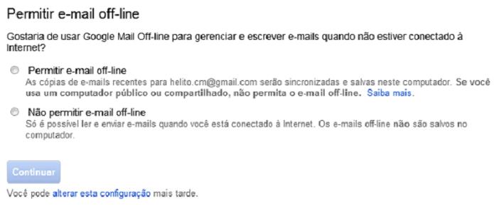 Baixe o Gmail Offline e tenha acesso a diversas funções mesmo sem Internet  (Foto: Reprodução/Helito Bijora)