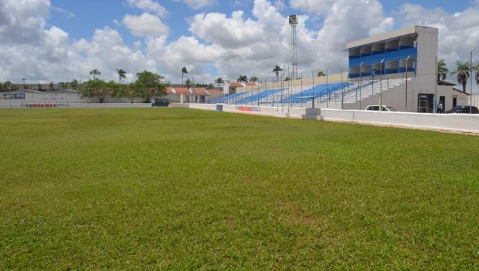 Estádio Teixeirão, em Santa Rita, na Paraíba (Foto: Larissa Keren / GloboEsporte.com/pb)