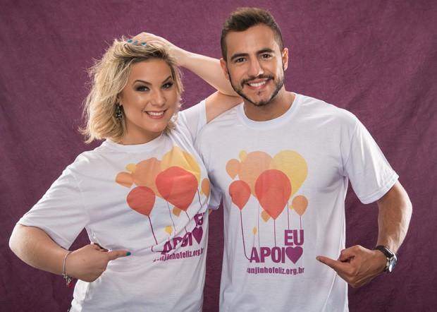 O casal de ex-BBBs Cacau e Matheus Lisboa (Foto: Divulgação)