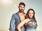 Viviane Araújo posa para campanha de jeans com o noivo Radamés