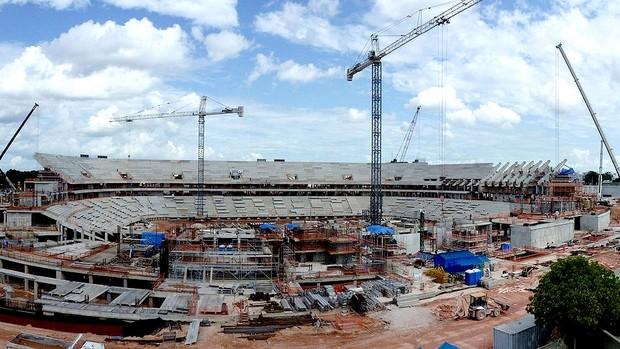 Obras Arena Amazônia copa 2014 (Foto: Arena)
